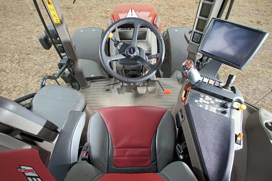 Cab of Case Optum tractor