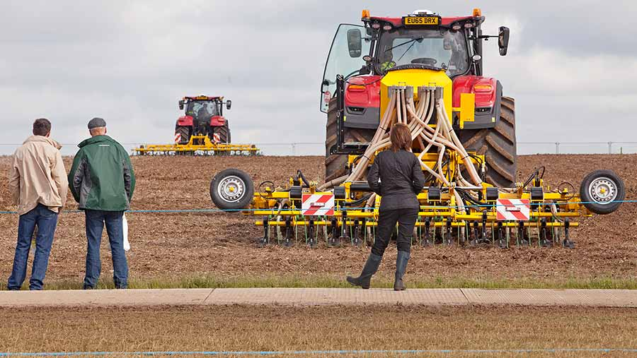 Cereals visitors watch the live demonstrations