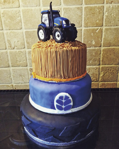 tractor cake by Charlie Cunningham