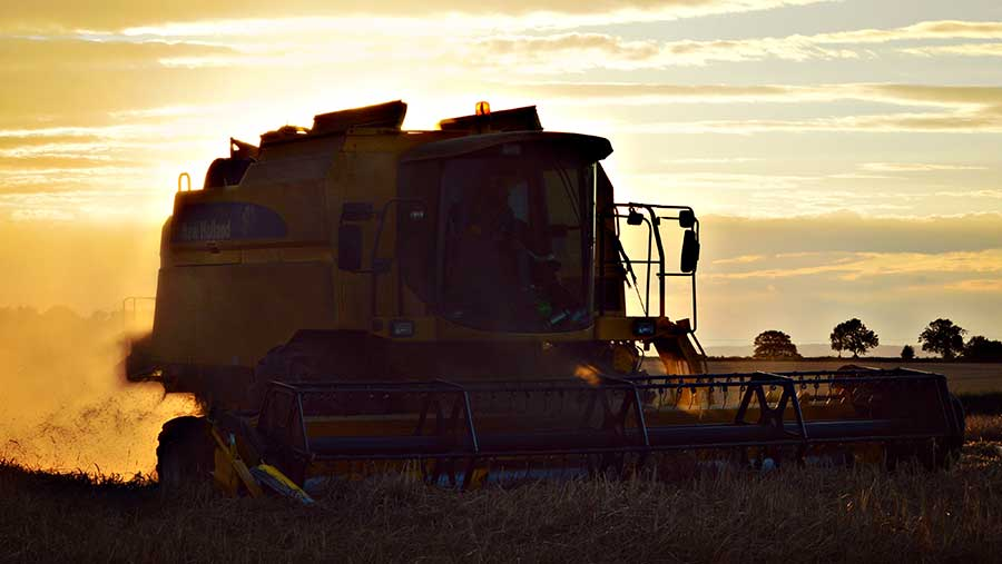 Combining-barley