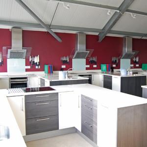 Newlyns cookery school kitchen