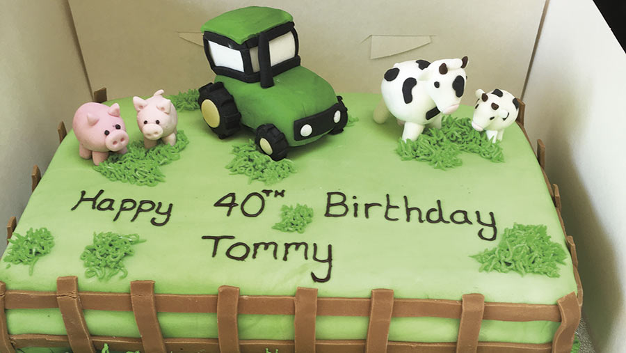 tractor cake by Corinne Anderson