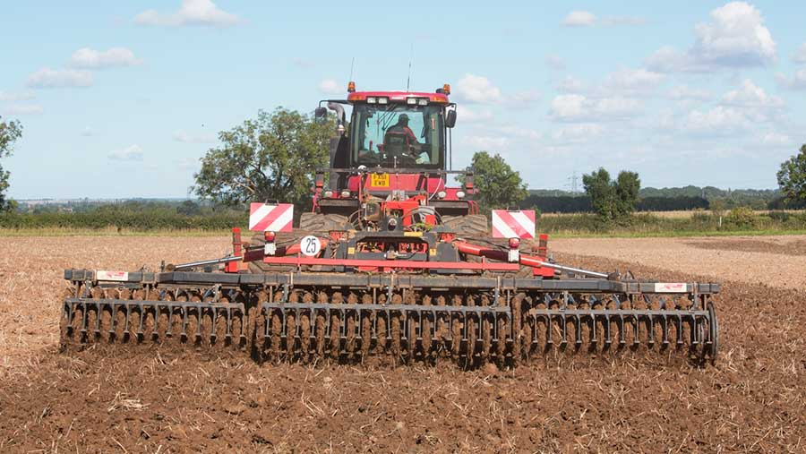 Cultivating ready for drilling © Tim Scrivener