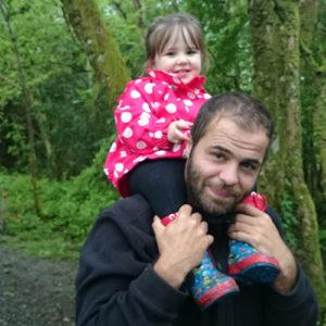 Daniel Picton-Jones with his daughter