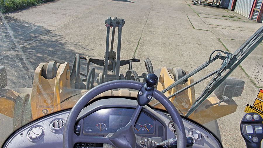 A view from the driver's cab