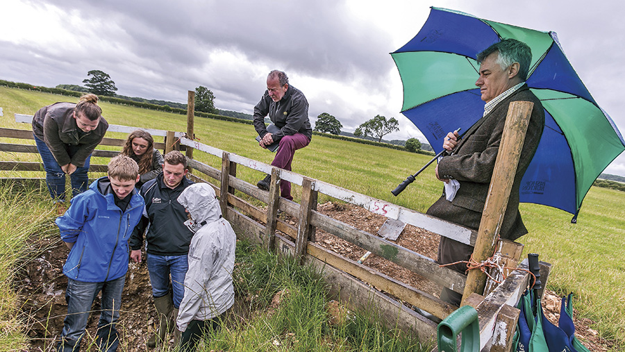 Farmers Apprentice contestants carry out a task