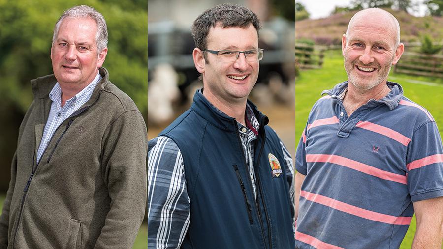 Photographs of the three finalists: Peter Brown, Doug Dear and Richard Tudor