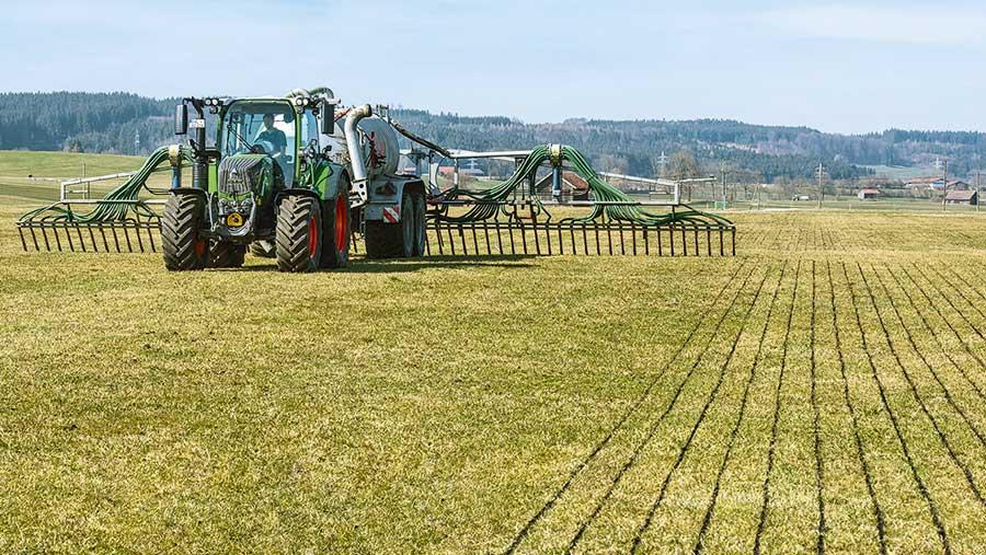 Fendt 300 working in field