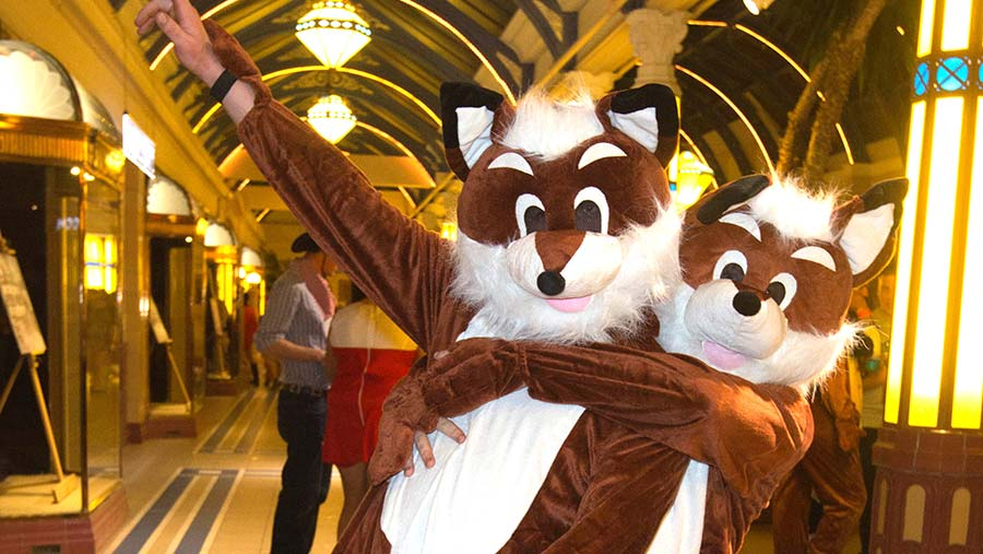 People in fox costumes
