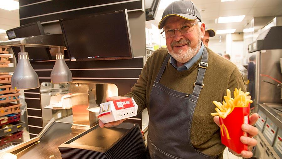 James Daw at the McDonalds serving station© Jim Robbins