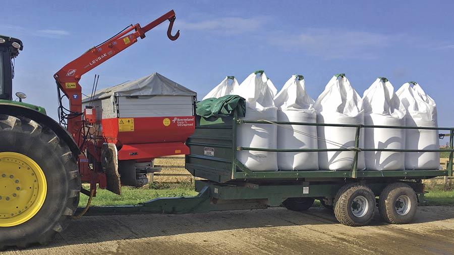 Jeff Bradshaw's fertiliser trailer