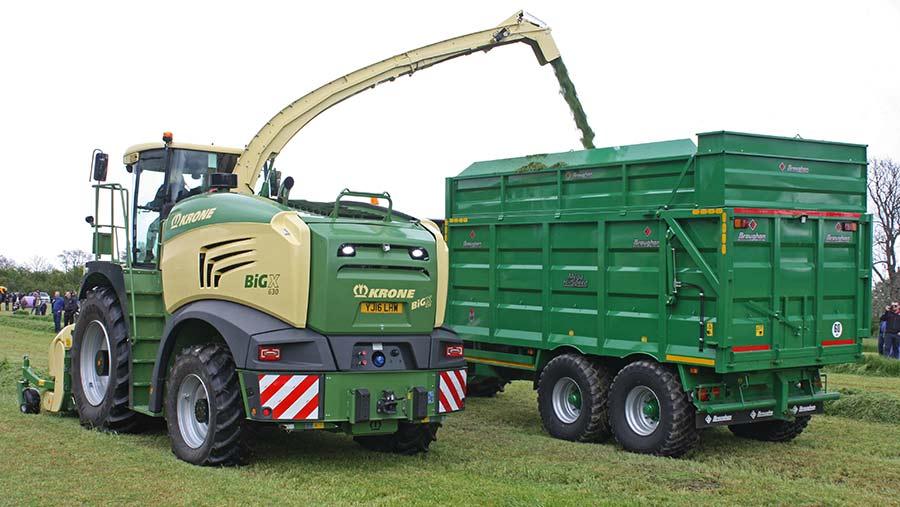 Krone's 770 self-propelled forage harvester