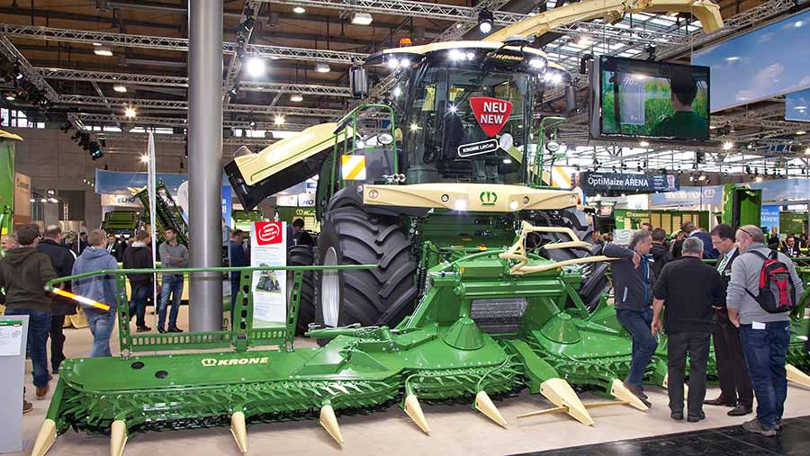 The Krone forager lift cab