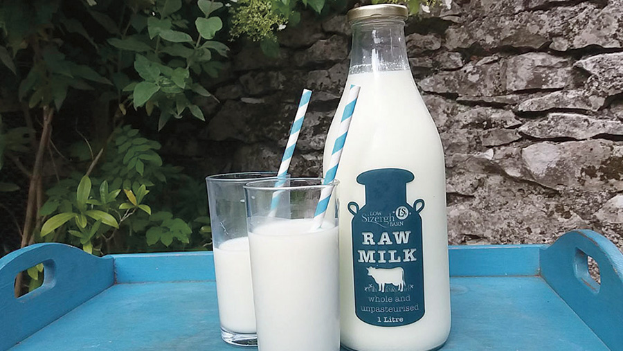 Low Sizergh Barn's milk