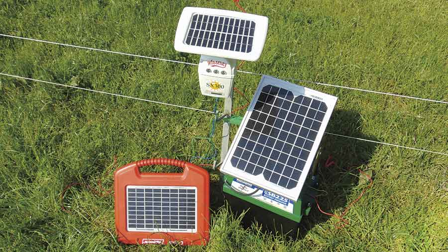 Three solar units