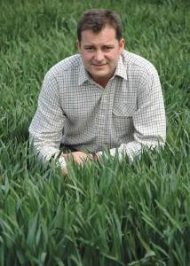 Mark Dodds from KWS in a field of wheat