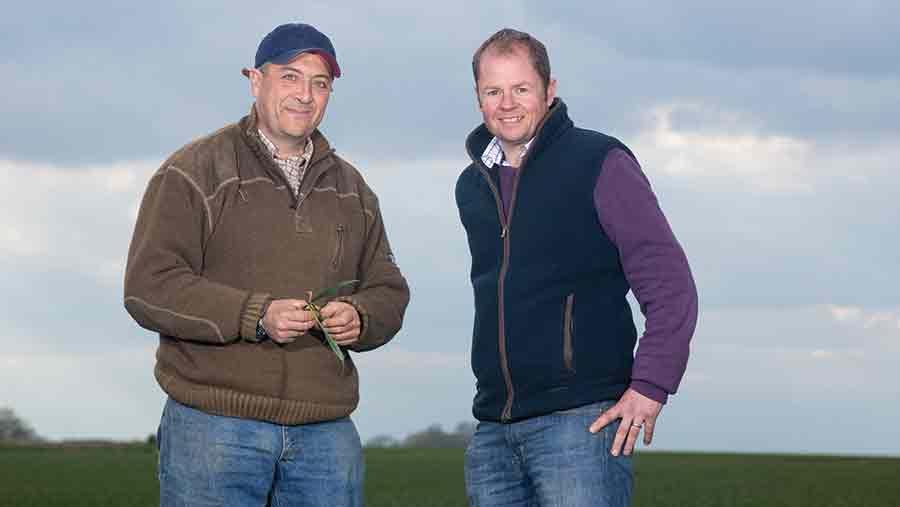 Mark Means (left) with neighbour David Hoyles