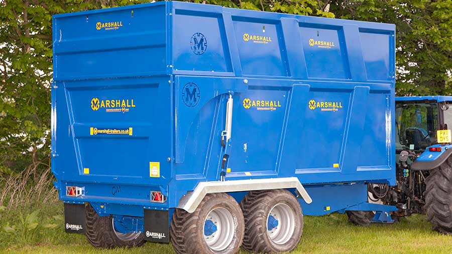 Marshall QM1200 grain and silage trailer
