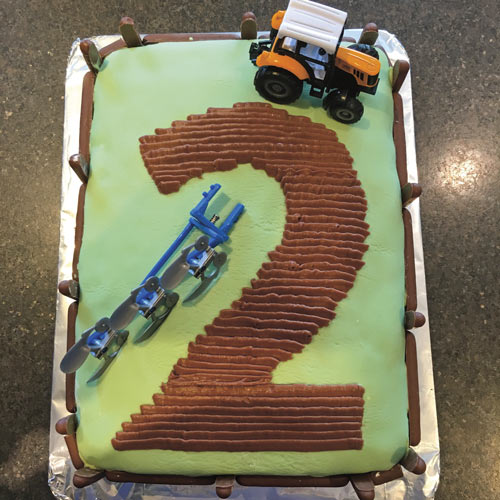 tractor cake by Morwenna Peters