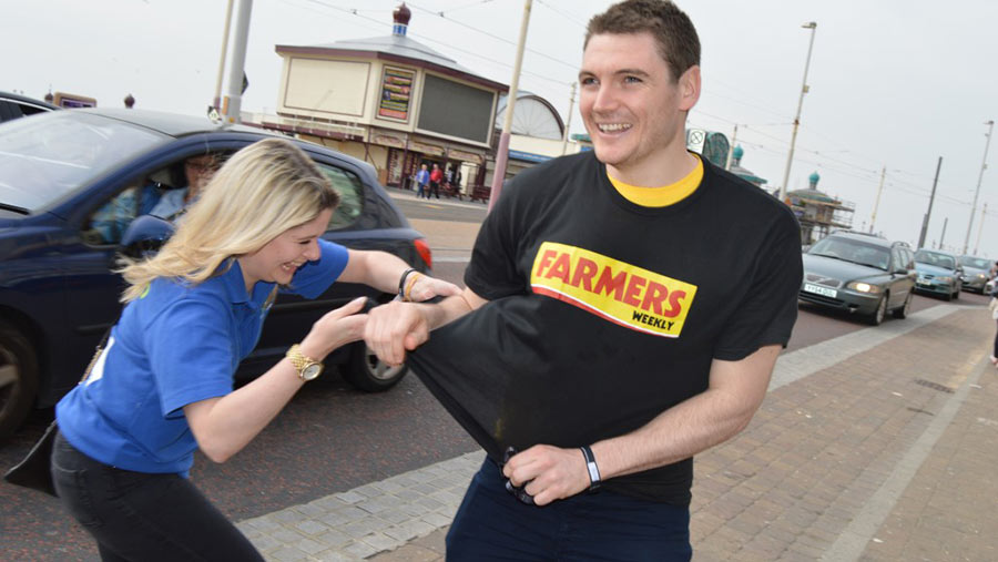 Most determined to get a Farmers Weekly T shirt