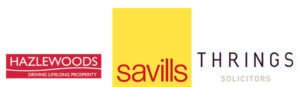 Logos for Savills, Hazlewood and Thrings