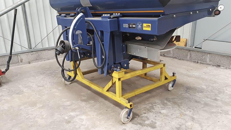 Paul McLean's fertiliser spreader trolley