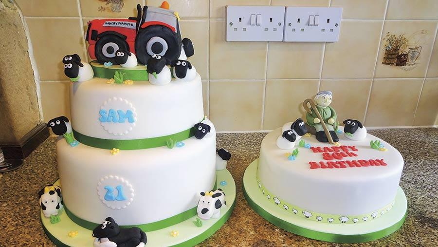 tractor cake by Paula Marshall