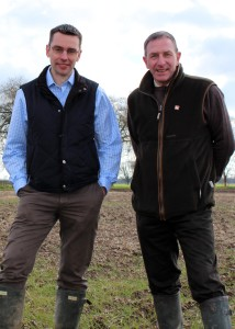 Revesby Estate farm manager Peter Cartwright (left) with Agrii agronomist Richard Butler