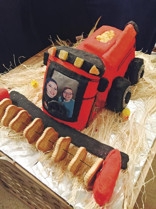 combine harvester cake by Poppy Lewis and Sarah Febry