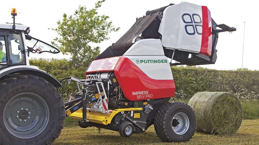 Pottinger Impress 185V Pro open