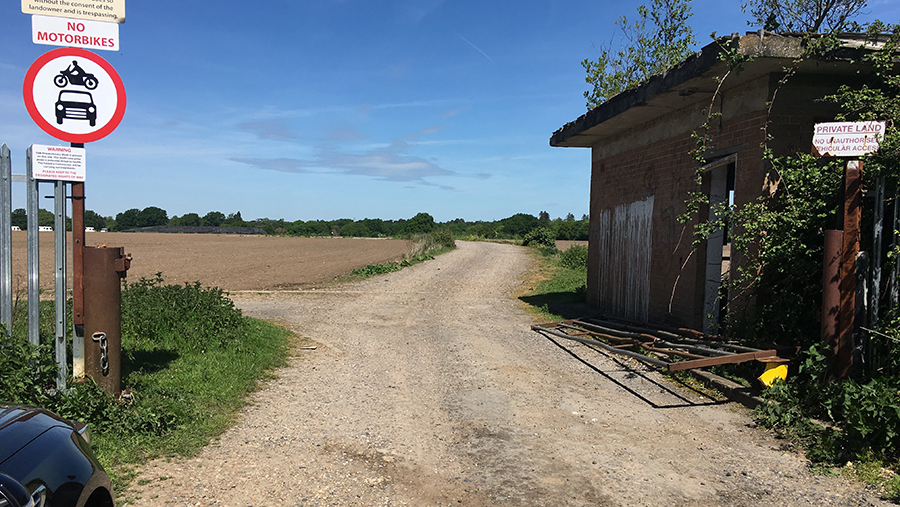 Travellers gained access after a gate was broken down