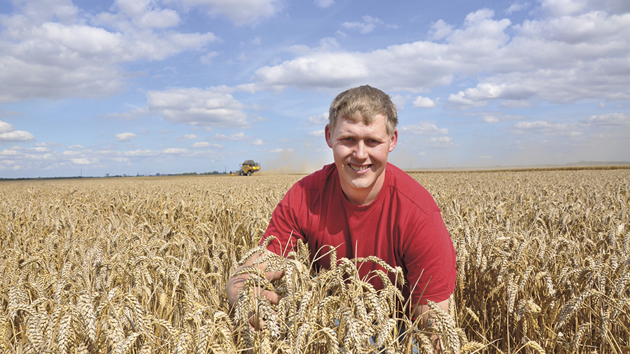 Richard Hinchliffe in a field