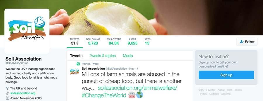 Soil Association tweet