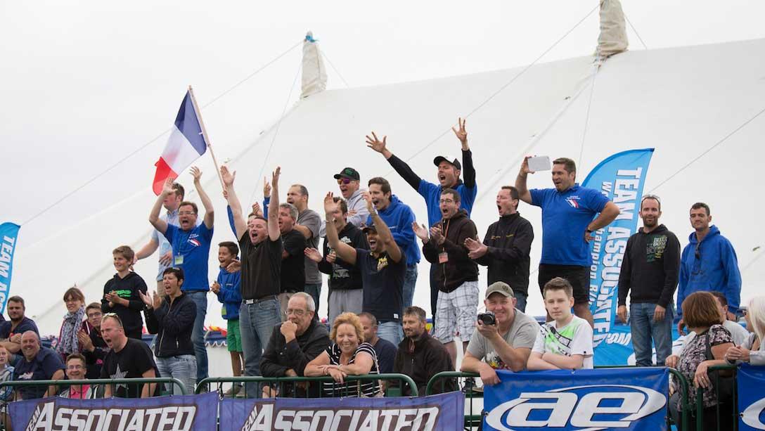 Spectators at Torworth farm race track