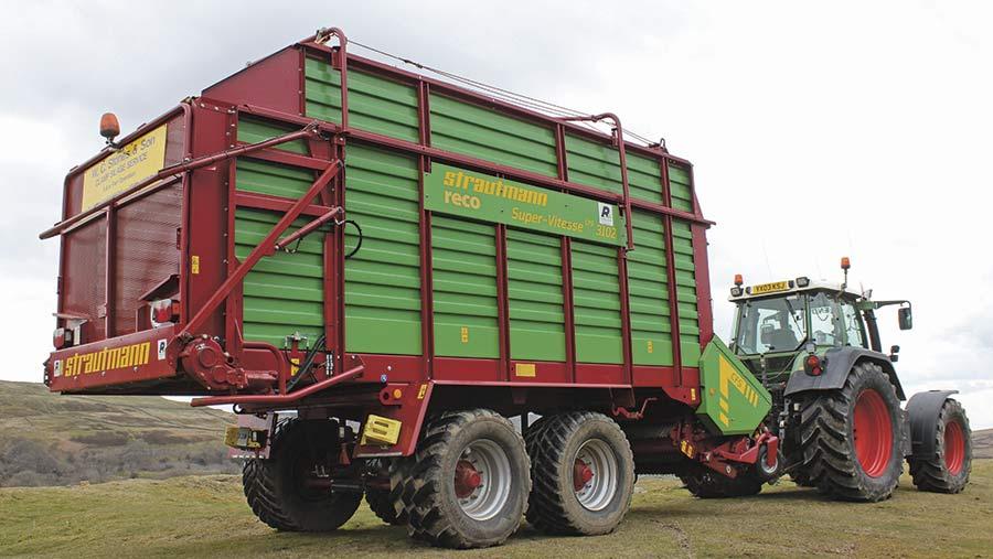A forage wagon by Strautmann