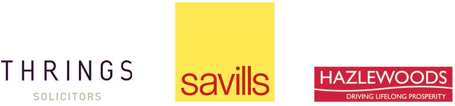Thrings, Savills, Hazelwoods logos