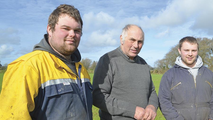 Matt, Rodney and Peter Dymond
