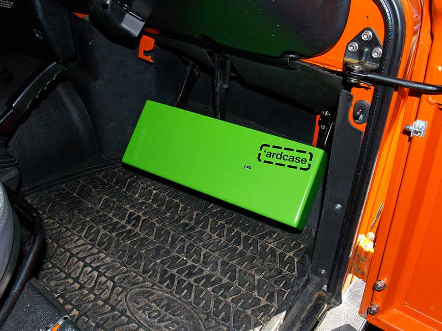 Ardcase fitted over Landrover pedals