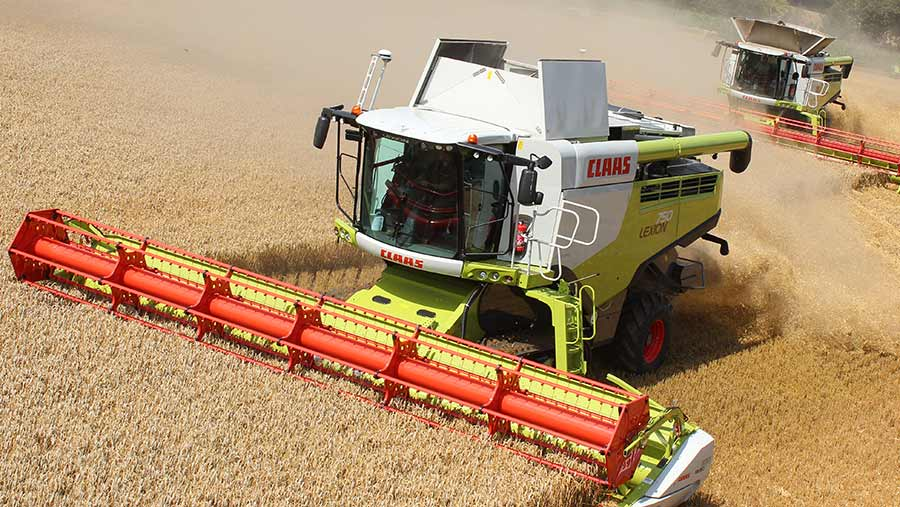 Top of the range Claas combine