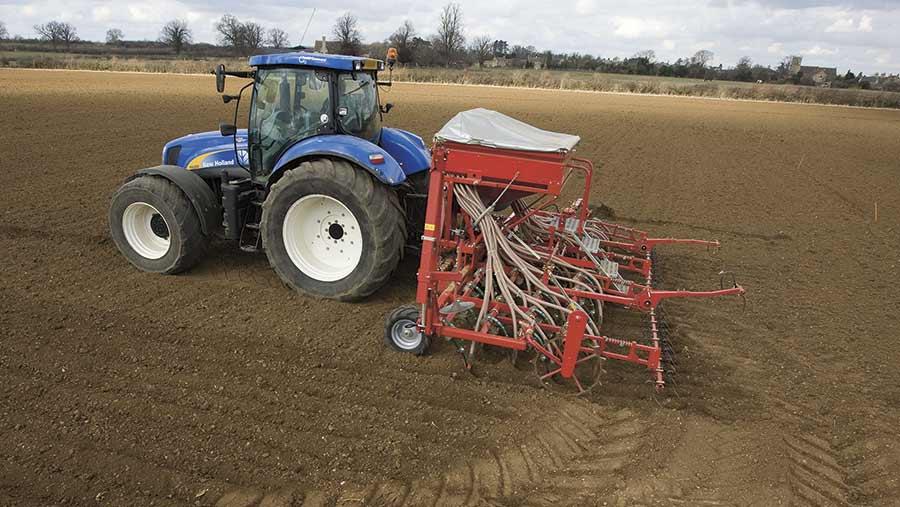 Drilling spring barley