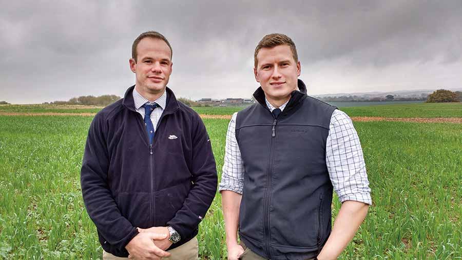 Ed Brown (left) and Geoff Bastard