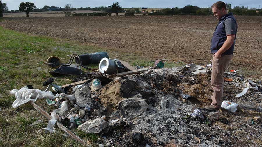 Ed Ford. Fly tipping
