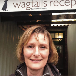 Jayne Barron outside Wagtails Kennels