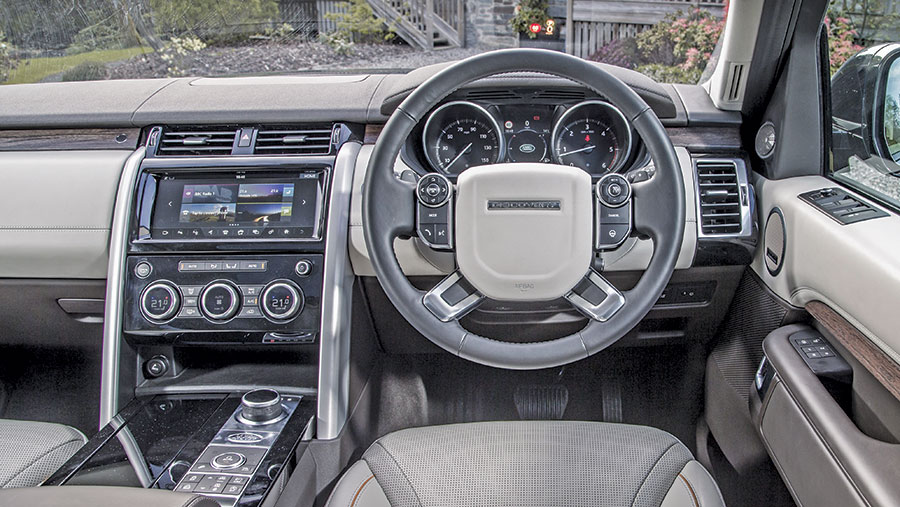 The inside of a Land Rover Discovery