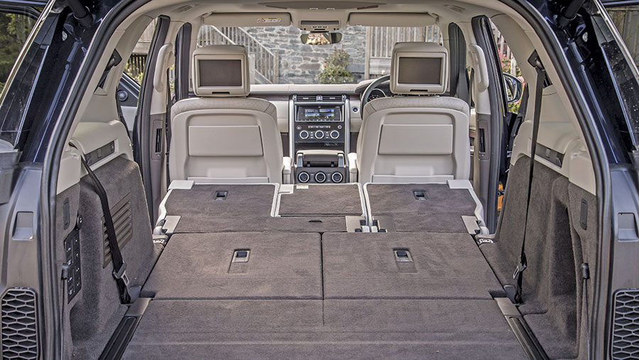 Land Rover Discovery's seats