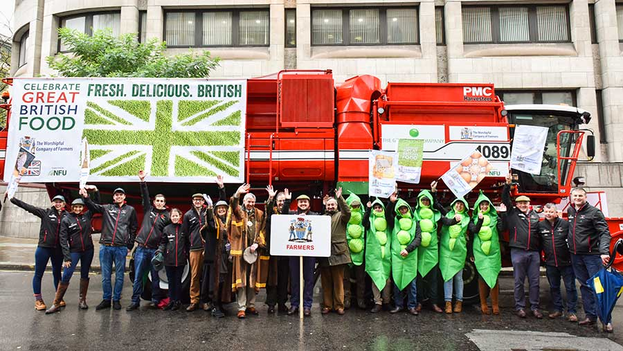 Pea harvester at the Lord Mayor's show