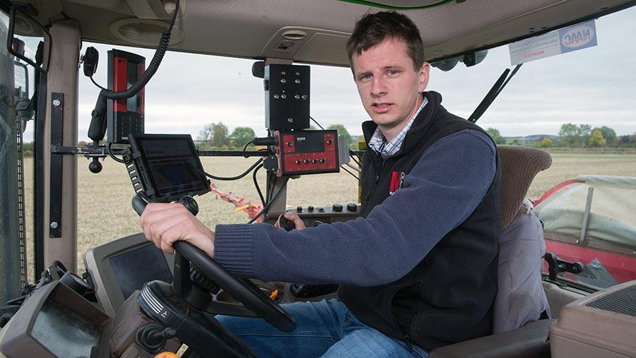 Matt Redman in tractor cab
