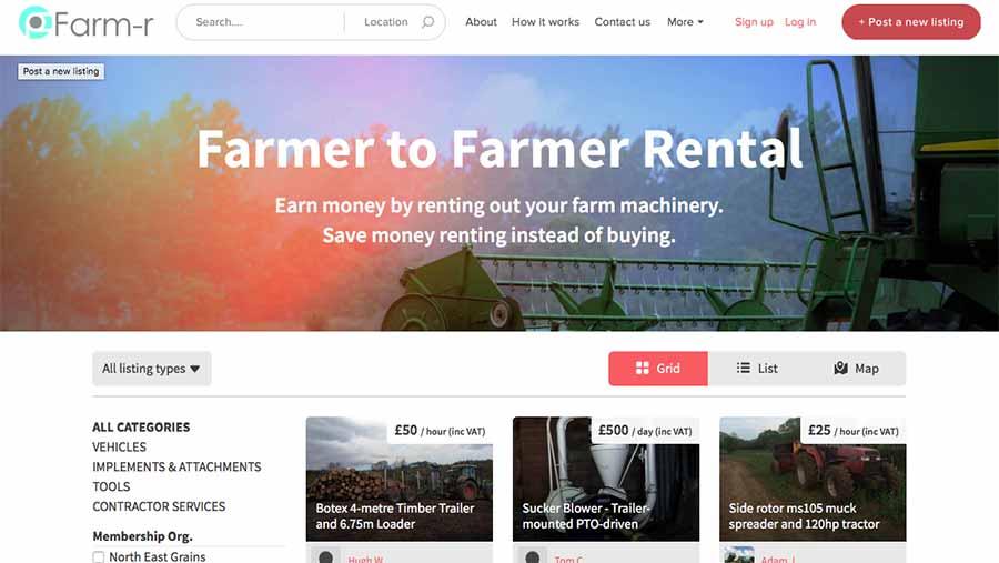 Screengrab from FarmR website