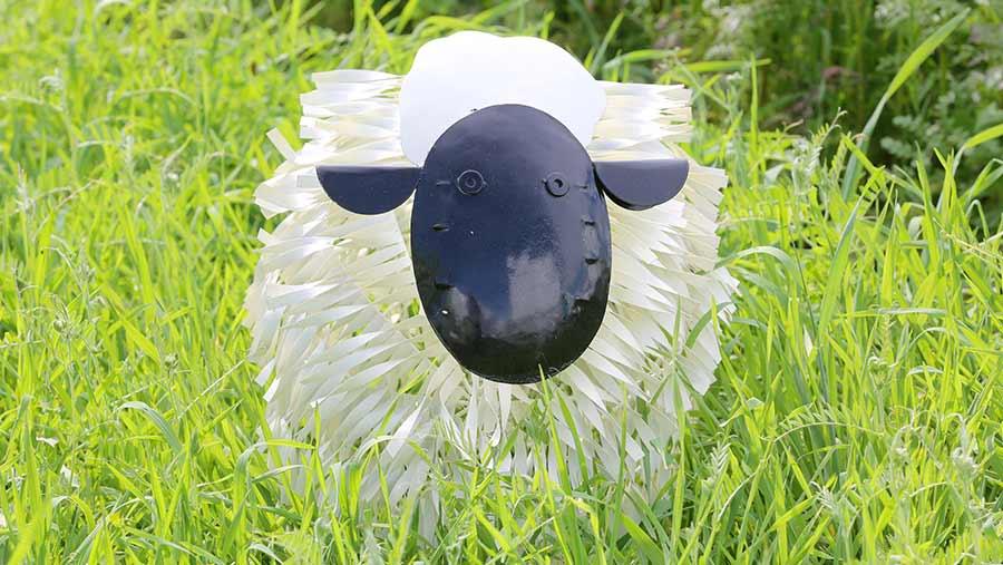 A sheep sculpture at Cereals
