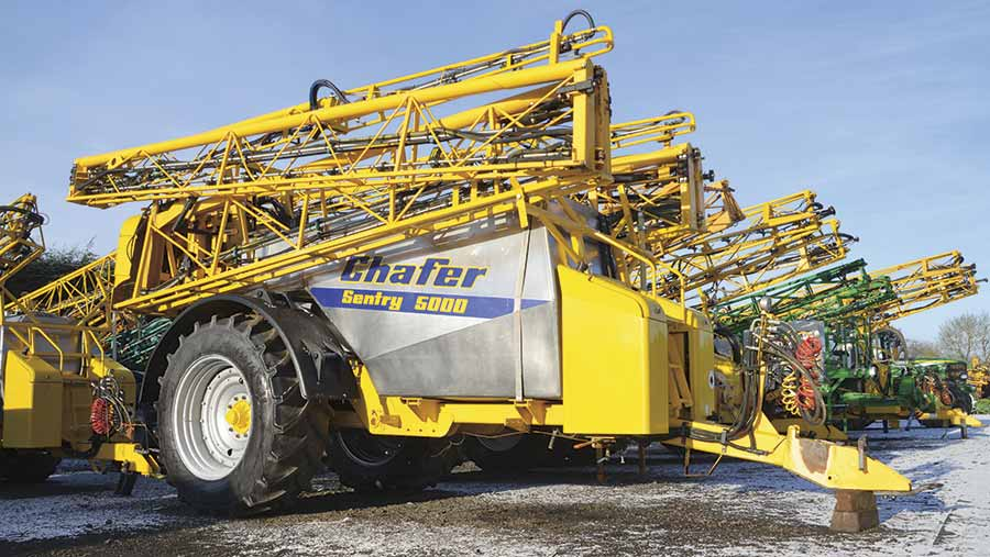 Chafer Sentry trailed sprayer